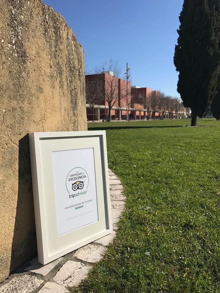 Certificado de Excelência Trip Advisor   Universidade de Aveiro