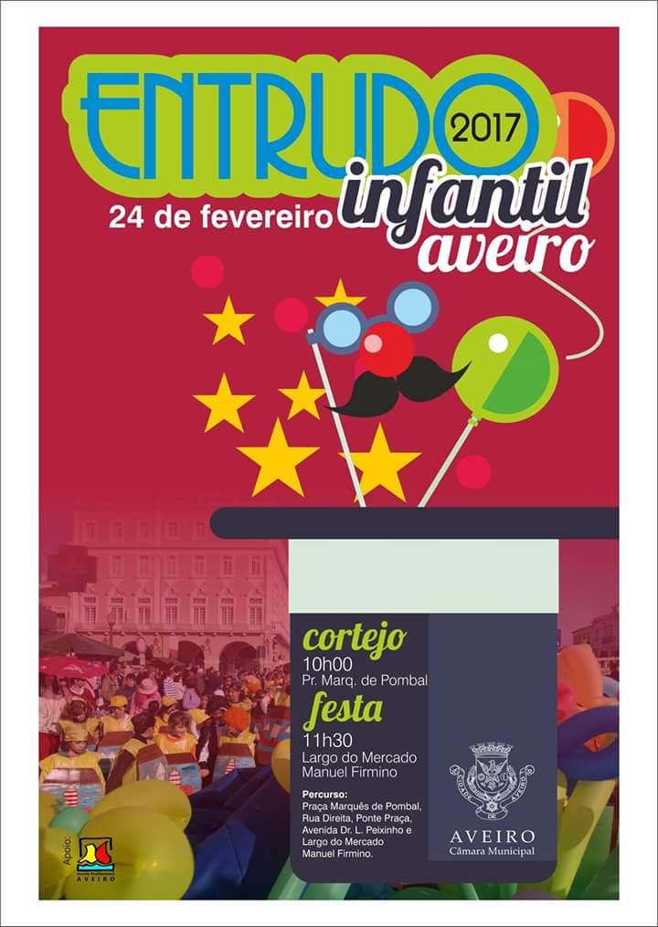 Cartaz Carnaval Infantil Aveiro 2017