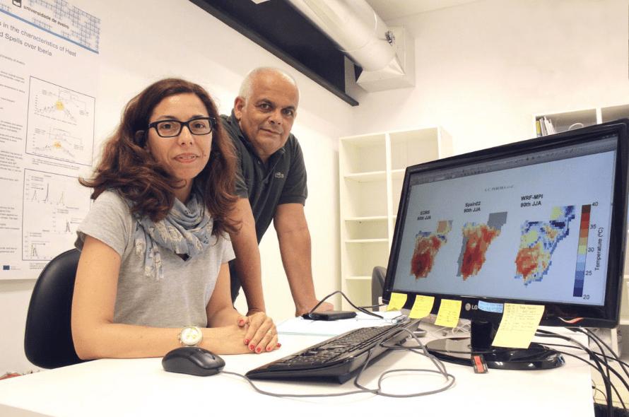 Susana Pereira e Alfredo Rocha, investigadores do Departamento de Física da UA. Foto: Diário de Aveiro
