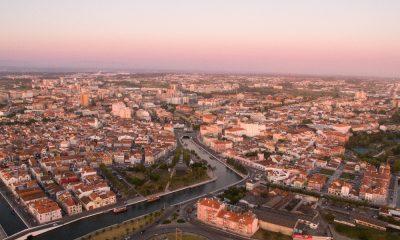 Vista aérea de Aveiro
